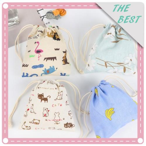 (2入)創意可愛印花卡通動物收納袋 束口袋 抽繩袋