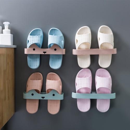 壁掛式拖鞋收納架 居家創意室內拖鞋收納架 收納鞋架 宿舍必備收納小物