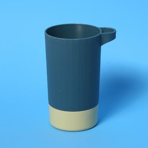 北歐撞色牙刷架漱口杯 簡約雙色牙刷杯 雙層塑膠杯 旅行必備牙刷杯