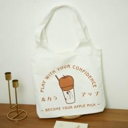 簡約帆布印花提袋 創意簡約帆布手提袋 多功能環保袋 購物袋